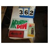 MARLIN & MOUNTAIN DEW STICKERS & 1957 CARDS
