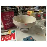 """LARGE POTTERY MIXING BOWL -- 12"""""""