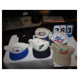 6 HATS -- PEPSI NASCAR, MT DEW & 7-UP