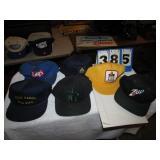 6 HATS -- CITGO, 7-UP, TOBACCO & LAYS