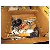 BOX LOT -- 2 NUT CRACKERS, PULLEYS & SCREW GUN