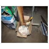 BOX LOT -- BRUSH / SQUEEGEEES & DUST MOP HEADS