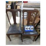 2-- VINTAGE DINING ROOM CHAIRS