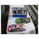 2-- DIECAST NASCAR CARS # 38  & # 18