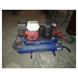 HONDA  5HP GAS AIR COMPRESSOR -- RUNS & WORKS