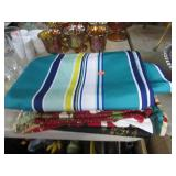 TABLE CLOTH & MISC TABLE RUNNERS,ETC