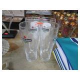 4 HEINEKEN BEER GLASSES