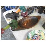 BRISGER CARVED DUCK TRAY