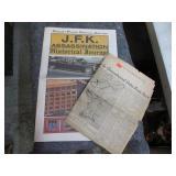 VINTAGE NEWSPAPERS JFK & KOREA (1953)