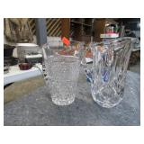 2 CRYSTAL PITCHERS