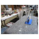3 CUT CRYSTAL STEMWARE GLASSES