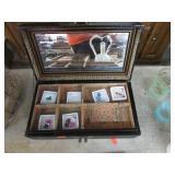 ORIENTAL JEWELRY BOX W/ GEM STONES