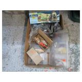 MODEL TRAIN SLENERY AND CAR PARTS