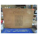 WOODEN WINE BOX GUTTED