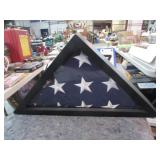 AMERICAN FLAG IN CASE