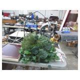 WROGHT IRON FRAME W/  FEUX PLANT