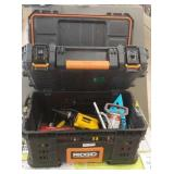 Ridgid convertible tool box with misc. tools