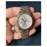Seiko Quartz Chronograph 7T32-7A49 A6 Watch (inscription on case back, see photo)