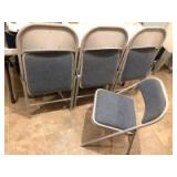 (4) Metal Folding Chairs