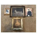 (4) Picture Frames (some antique)