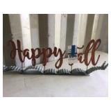 Metal -Happy Fall- Sign