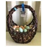 Decorative Basket w/ Styrofoam Easter Eggs