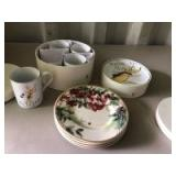 Assortment of Plates and Mugs
