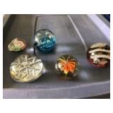 Variety of Glass Paper Weights