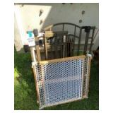 Variety of Dog Gates (Metal & Wood), Kennel, and Pet Stairs