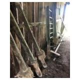 SALVAGE LOT (Buyer Responsible For Removal)- Boom Pole, Fence Posts, Gate, Barrels, Etc.