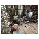SALVAGE LOT (Buyer Responsible For Removal)- Traps, Sleds, Wire, Gas Cans, Etc.