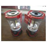 (2) RED BATTERY POWERED CAMPING LANTERNS  28