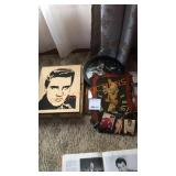 Elvis Picture and Clock Lot