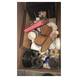 Box of Cups, Pictures and more. Sold as is. No