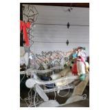 Light Post, Sleigh And Reindeer