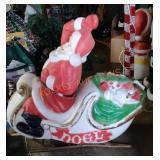 Santa And Sleigh Blow Mold