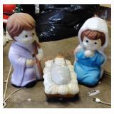 Mary, Joseph And Jesus Blow Molds