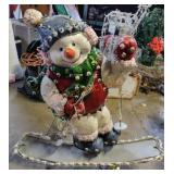 Snow Boarding Snowman