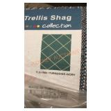 MSRUGS Trellis Shag Collection, Turquiose/Ivory