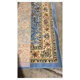 Kashan Collection Carpet, Light Blue