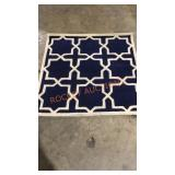 Safavieh Designer Carpet, Chatham Dark Blue/White
