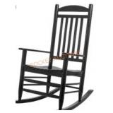 Hampton Bay Wood Slat Rocking Chair, Black