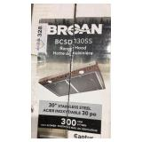 "Broan 30"" Range Hood, Stainless Steel"