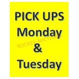 Pickup Times/dates!