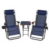 SunnyDaze Outdoor Gravity Chairs