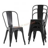 Metal Dining Chairs, Set of 4