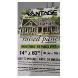 Vantage raised panel shutter lot