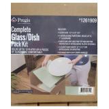 Lot of glass/dish pack kits