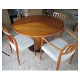 Skovby butterfly table and Moller chairs