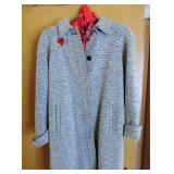 Vintage coat with pin
